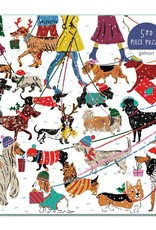 Galison Winter Dogs Puzzle 500pc