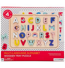 Petit Collage Multi-Language Alphabet Tray Puzzle