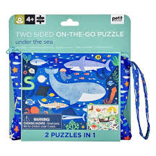 Petit Collage Two Sided On-The-Go Puzzle Under The Sea