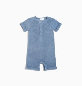 Miles Baby Miles Baby Candy Sky Infant Terry Romper