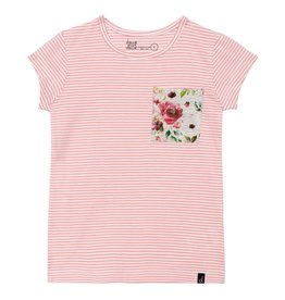 Deux par Deux Deux par Deux Striped Pocket Tee