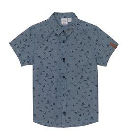 Deux par Deux Deux par Deux Beach Print Chambray Shirt