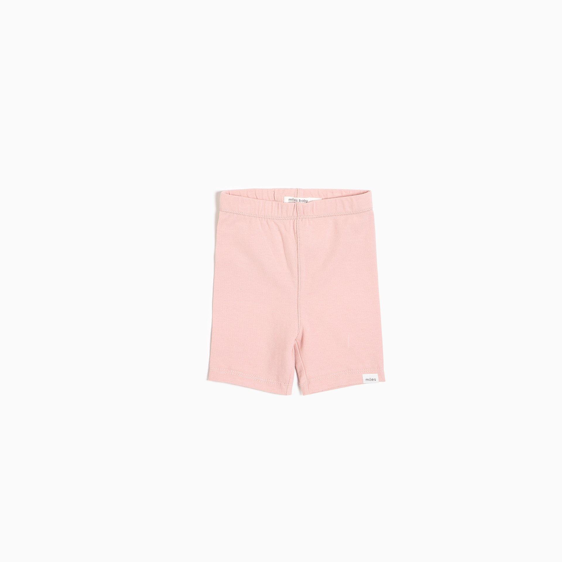 Miles Baby Miles Baby Light Pink Infant Biker Shorts