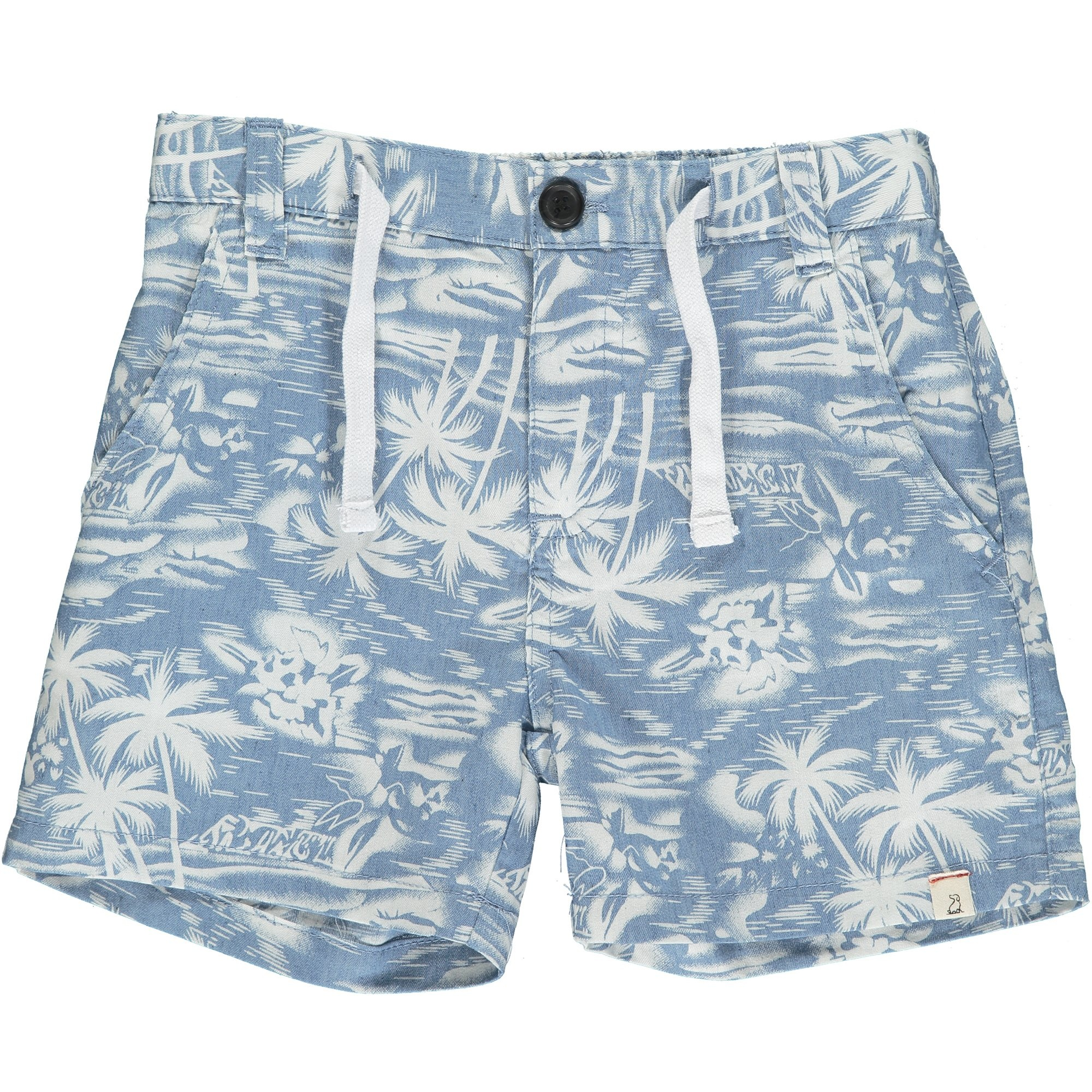 Me & Henry Me & Henry Infant Crew Shorts Chambray Surfer