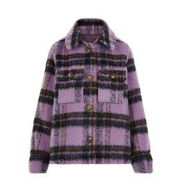 Creamie Creamie Wool Blend Jacket Lavender Mist