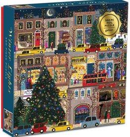 Galison Winter Lights Foil Puzzle 500pc