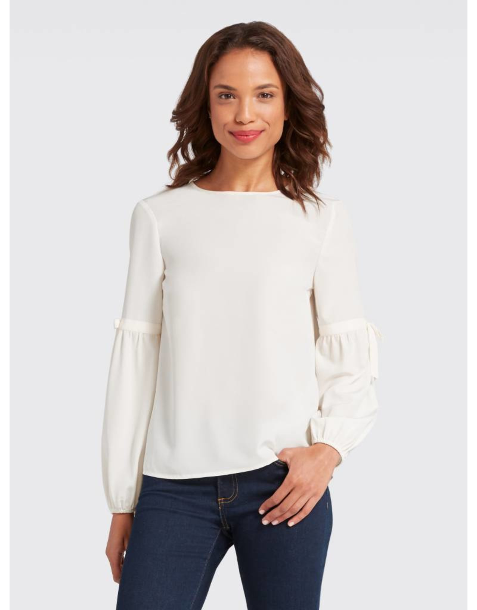 Draper James Draper James Long Sleeve Bell Collection Blouse