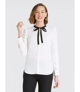 Draper James Draper James Ruffle Long Sleeve Top