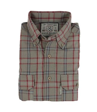Over Under Over Under Crosscut Flannel Shirt Earth Tan