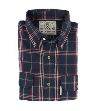 Over Under Over Under Crosscut Flannel Shirt Marina Blue