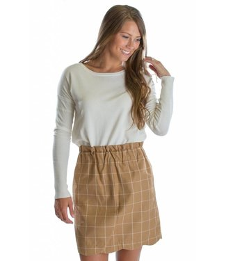 Lauren James Lauren James Flannel Scallop Skirt