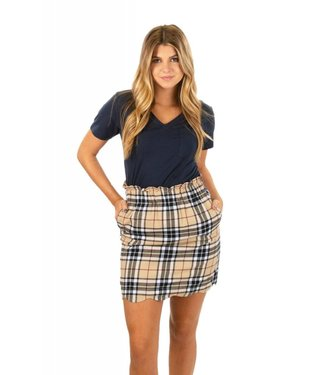 Lauren James Lauren James Scallop Plaid Flannel Skirt