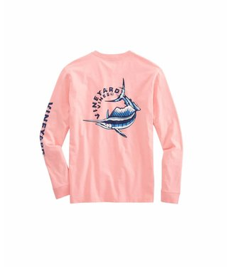 Vineyard Vines Vineyard Vines Sailfish Vortex L/S Pocket Tee