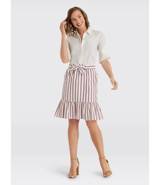 Draper James Draper James Stripe Flounce Skirt