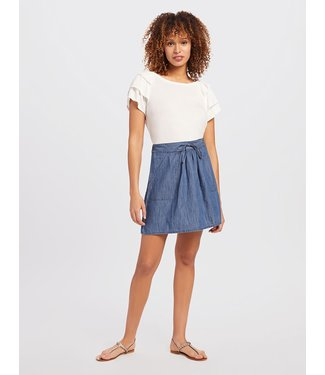 Draper James Draper James Pull On Chambray Skirt