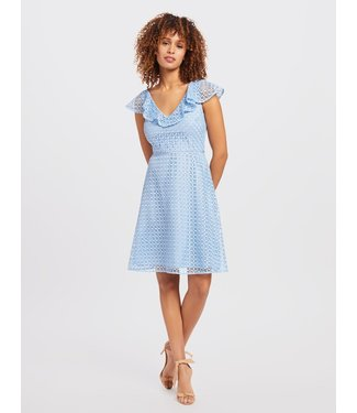 Draper James Draper James Collection Lattice A-Line Dress