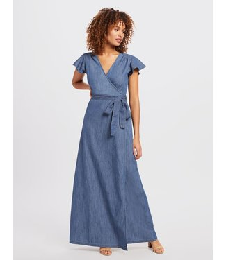 Draper James Draper James Maxi Chambray Dress