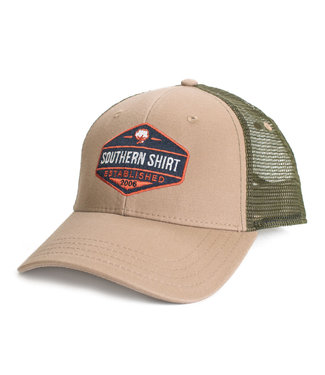 Southern Shirt Co. Southern Shirt Co. Trademark Badge Mesh Hat Khaki/Surplus