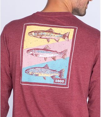 Southern Shirt Co. Southern Shirt Co. Tricolor Trout L/S Tee
