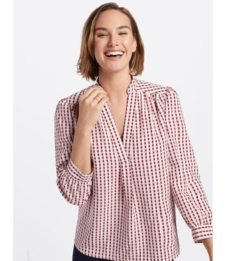 Draper James Draper James Gingham Popover Top