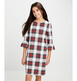 Vineyard Vines Vineyard Vines Youth Girls Ruffle Sleeve Dress