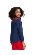 Vineyard Vines Vineyard Vines Youth Girls Merry Plaid Relaxed Shep Shirt