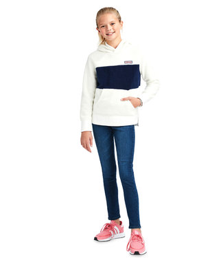 Vineyard Vines Vineyard Vines Youth Girls Monkey Fleece Pullover Hoodie