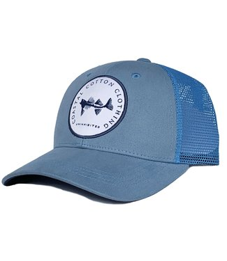 Coastal Cotton Coastal Cotton College Blue with Round Patch Hat