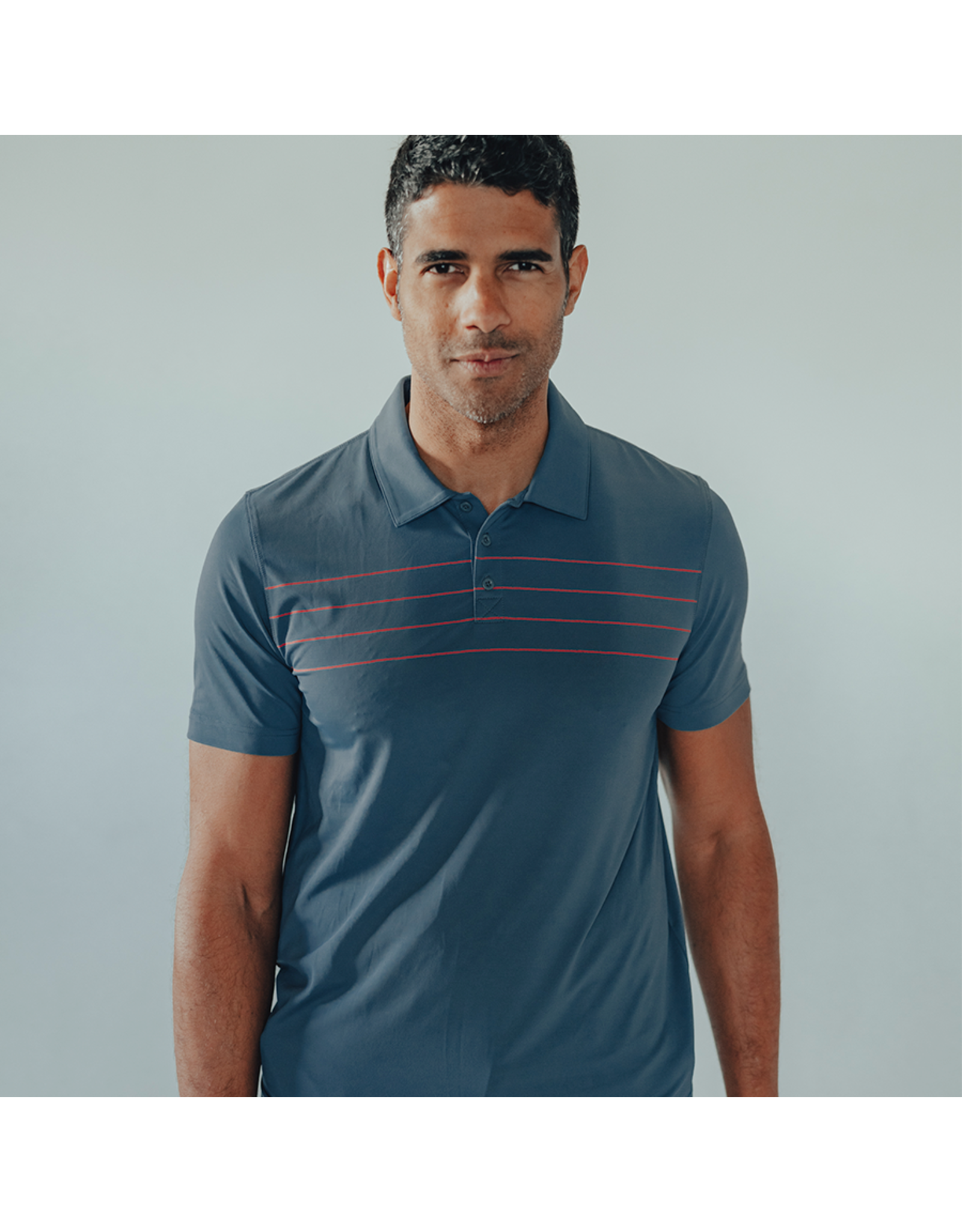 The Normal Brand The Normal Brand Fore Stripe Performance Polo