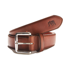 The Normal Brand The Normal Brand Classic Stitched Leather Belt