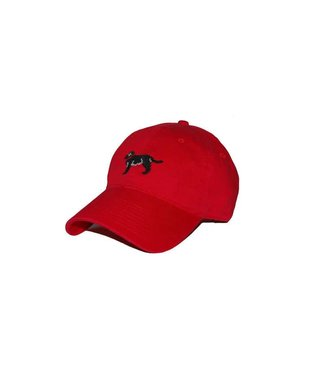 Smathers and Branson Black Lab Hat in Red