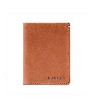 Jack Mason Jack Mason Tan Leather Front Pocket Wallet