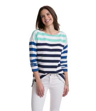 Vineyard Vines Vineyard Vines Combo Stripe Boatneck Top