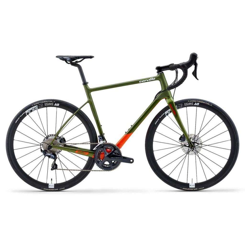 Cervélo C3 ULTEGRA R8020 OLIVE/ORANGE/RED SIZE 56