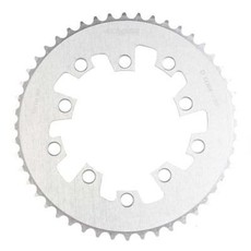 Eclypse, Glide-Pro SS 1/8, 46T, Single speed, BCD: 11mm, 5 Bolt Outer Chainring, Alloy, Silver