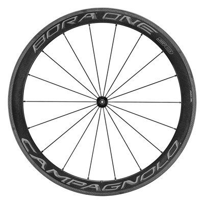 Bora One 50 wheelset, clincher, DARK labels, Campagnolo