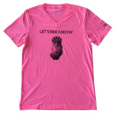 LET'S RIDE MEOW T-SHIRT PINK
