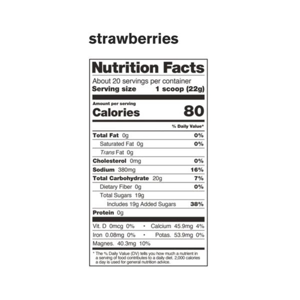 Skratch Labs Sport Hydration Drink Mix, Strawberries, 440g, 20-Serving Resealable Pouch