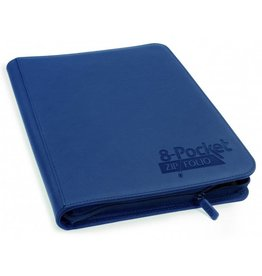 Ultimate Guard 8 Pocket Quadrow Zip Folio Xenoskin Dark Blue