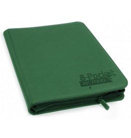 Ultimate Guard 8 Pocket Quadrow Zip Folio Xenoskin Green