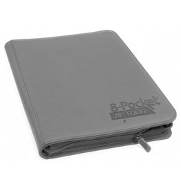 Ultimate Guard 8 Pocket Quadrow Zip Folio Xenoskin Grey
