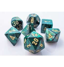 JADE / GOLD 7 DIE SET SCARAB
