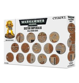 Miniatures Tools Warhammer 40K: Sector Imperialis 32mm Round Bases