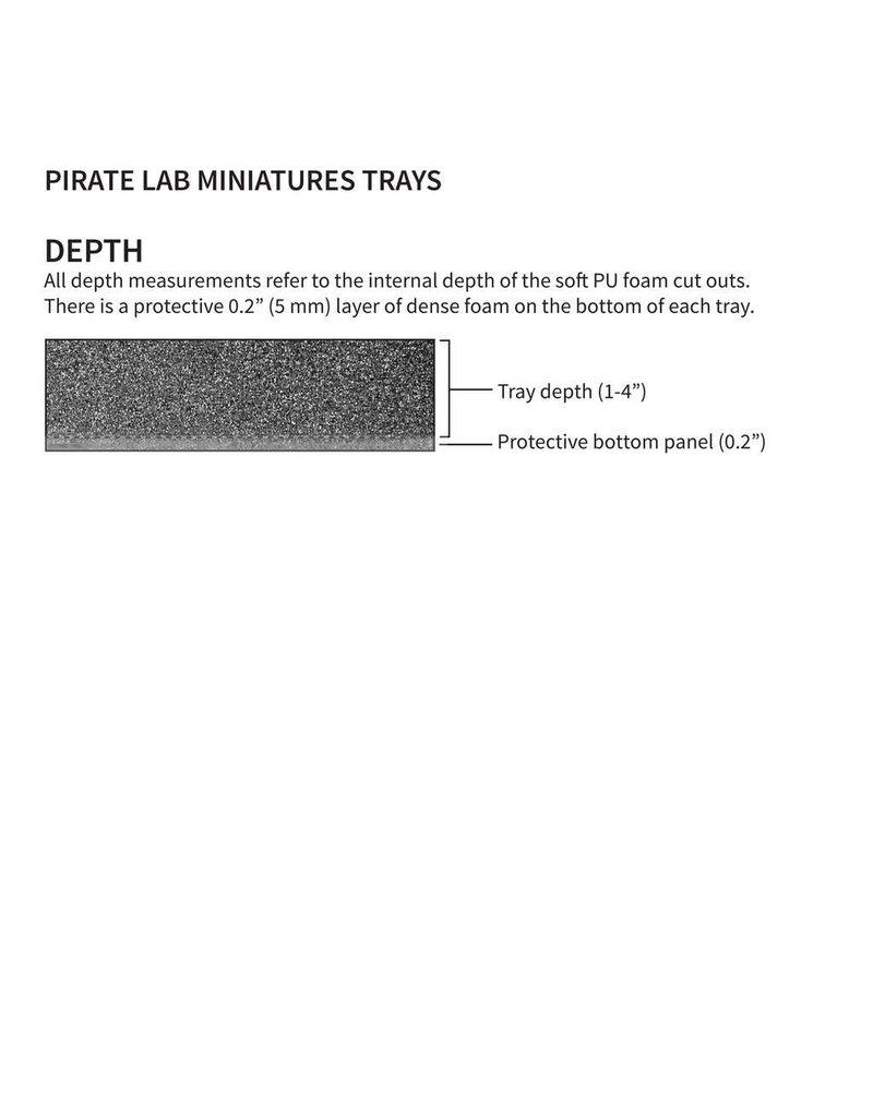 Piratelab Black Extra Large Miniatures Case