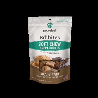 Pet Releaf Pet Releaf CBD Soft Chews Peanut Butter & Carrob 7.5 oz.