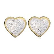 Montana Silversmiths Classic Montana Heart Earrings
