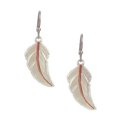 Montana Silversmiths Montana Silversmith Earrings Copper Feather Tip