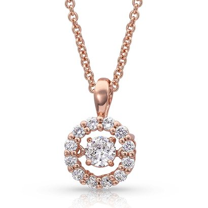 Montana Silversmiths Dancing Rose Gold Halo Circle Necklace