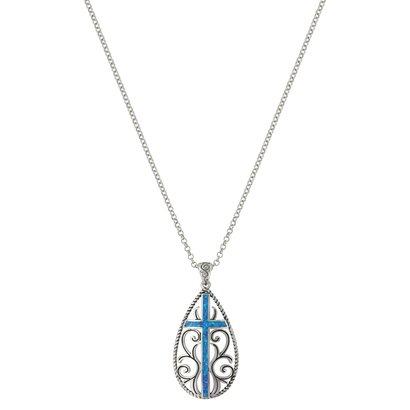 Montana Silversmiths Filigree Water Lights Cross Necklace