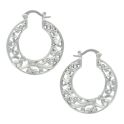 Montana Silversmiths A Touch of Wild Hoop Earrings